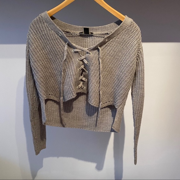 VINTAGE Cropped grey sweater